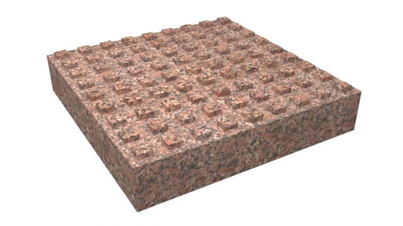 Тактильные плиты из гранита Жельтау